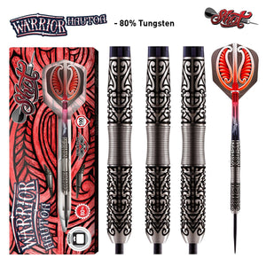Warrior Hautoa Steel Tip Dart Set-80% Tungsten - shot-darts
