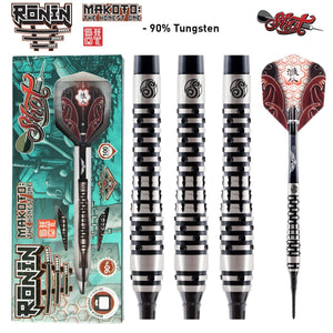 Ronin Makoto Soft Tip Dart Set-90% Tungsten Barrels - shot-darts