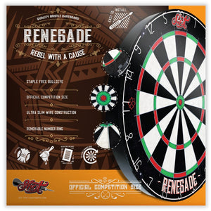 Renegade Bristle Dartboard - shot-darts
