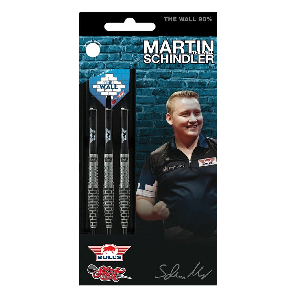 Martin Schindler Steel Tip Dart Set-90% Tungsten Barrels - shot-darts