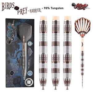 Birds of Prey Harrier Steel Tip Dart Set-90% Tungsten Barrels - shot-darts