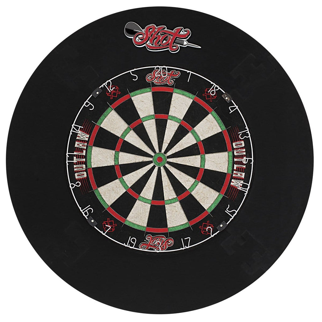 Outlaw Tournament Dartboard Set - shot-darts