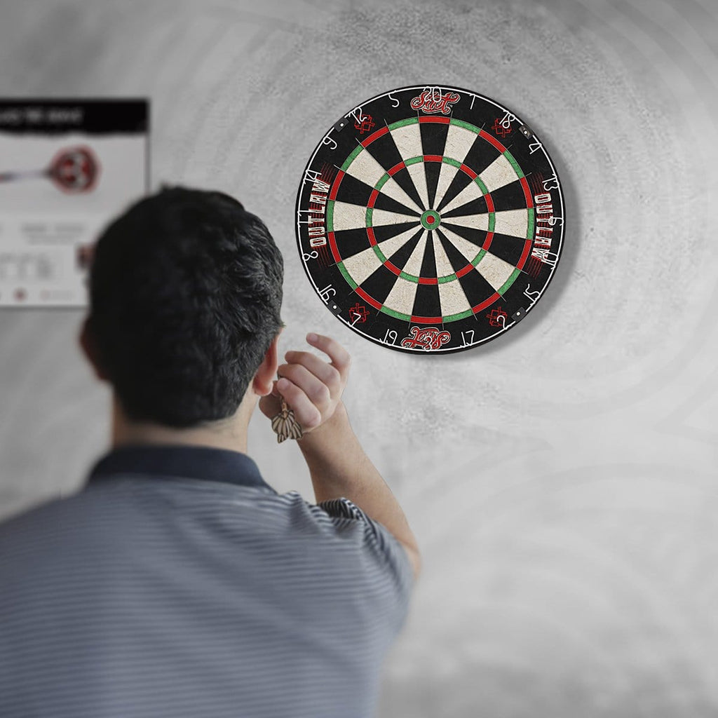 Outlaw Bristle Dartboard - shot-darts