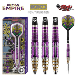 Roman Empire Caesar Steel Tip Dart Set-95% Tungsten Barrels