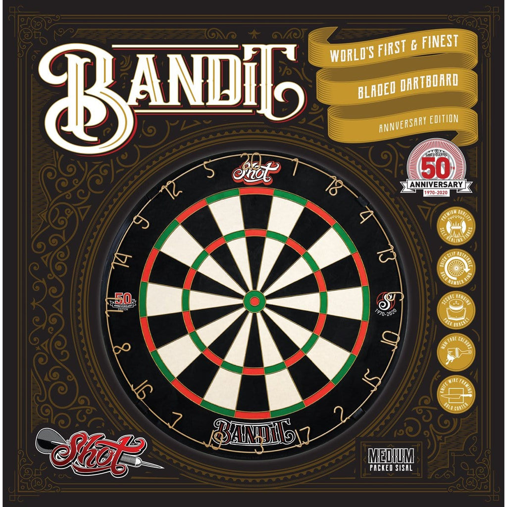 Shot Darts 50th Anniversary Bandit Dart Board