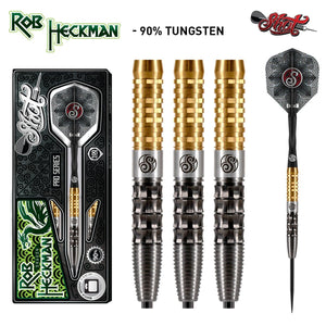 Shot Pro Series-Robert Heckman Dragon-Steel Tip Dart Set-90% Tungsten Barrels