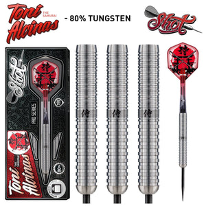 Shot Pro Series-Toni Alcinas Samurai Steel Tip Dart Set-80% Tungsten Barrels - shot-darts
