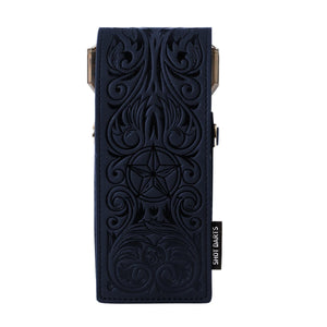 Insignia Darts Case-Wild Frontier-Blue with Black Embossing