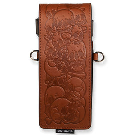 Shot Inked Dart Wallet-Skulls-Brown