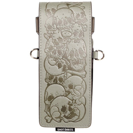 Shot Inked Dart Wallet-Skulls-Grey