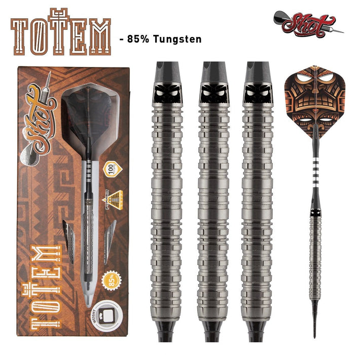 Totem 2 Series Soft Tip Dart Set-85% Tungsten Barrels - shot-darts
