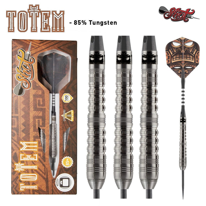 Totem 1 Series Steel Tip Dart Set-85% Tungsten Barrels - shot-darts