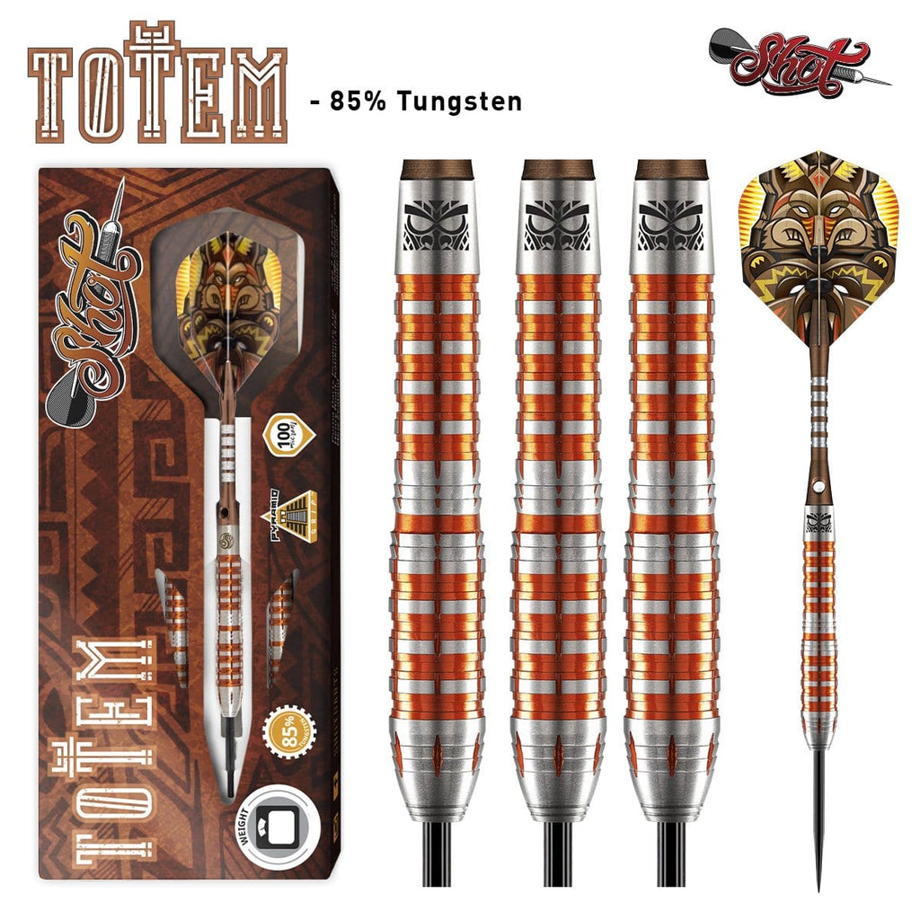 Totem 3 Series Steel Tip Dart Set-85% Tungsten - shot-darts