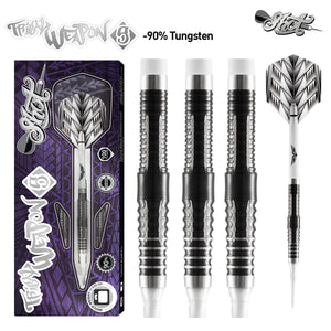 Tribal Weapon 5-Soft Tip Dart Set-90% Tungsten - shot-darts