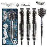 Tribal Weapon 4 Series-Steel Tip Dart Set- 90% Tungsten Barrels - shot-darts