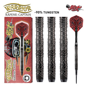 Warrior Kapene Soft Tip Dart Set-90% Tungsten Barrels