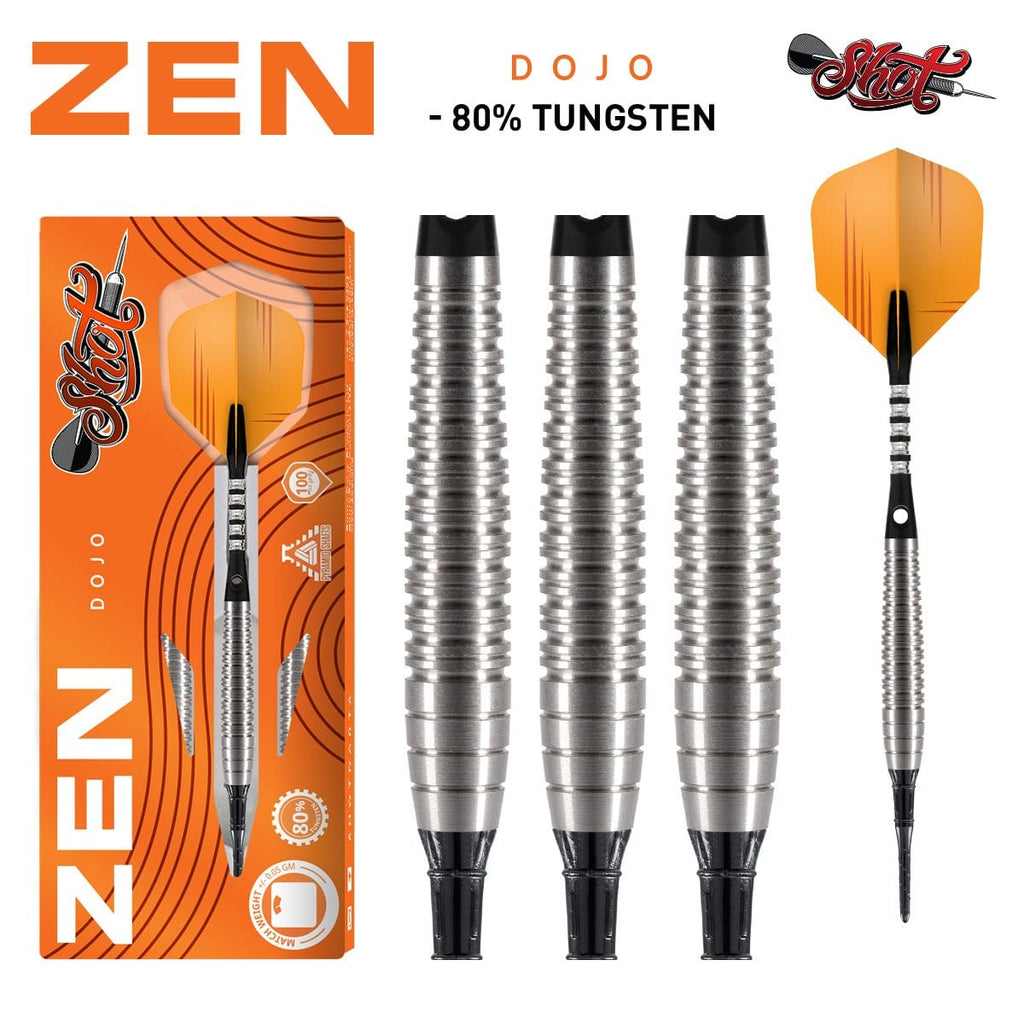 Zen Dojo Soft Tip Dart Set-80% Tungsten Barrels