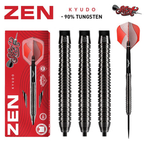 Shot Darts Zen Kyudo Steel Tip Dart Set-90% Tungsten Barrels