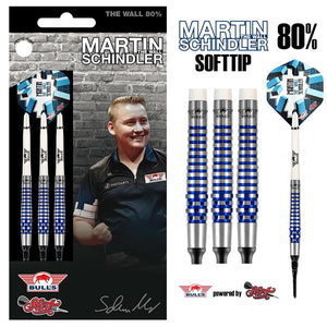 Martin Schindler Soft Tip Dart Set-80% Tungsten Barrels - shot-darts
