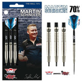 Martin Schindler Steel Tip Dart Set-70% Tungsten Barrels - shot-darts