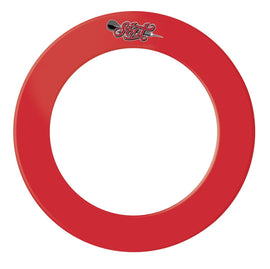 One Piece Dartboard Surround- Red - shot-darts