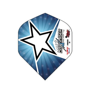 Max Hopp Flight Set-Standard-Blue Star - shot-darts