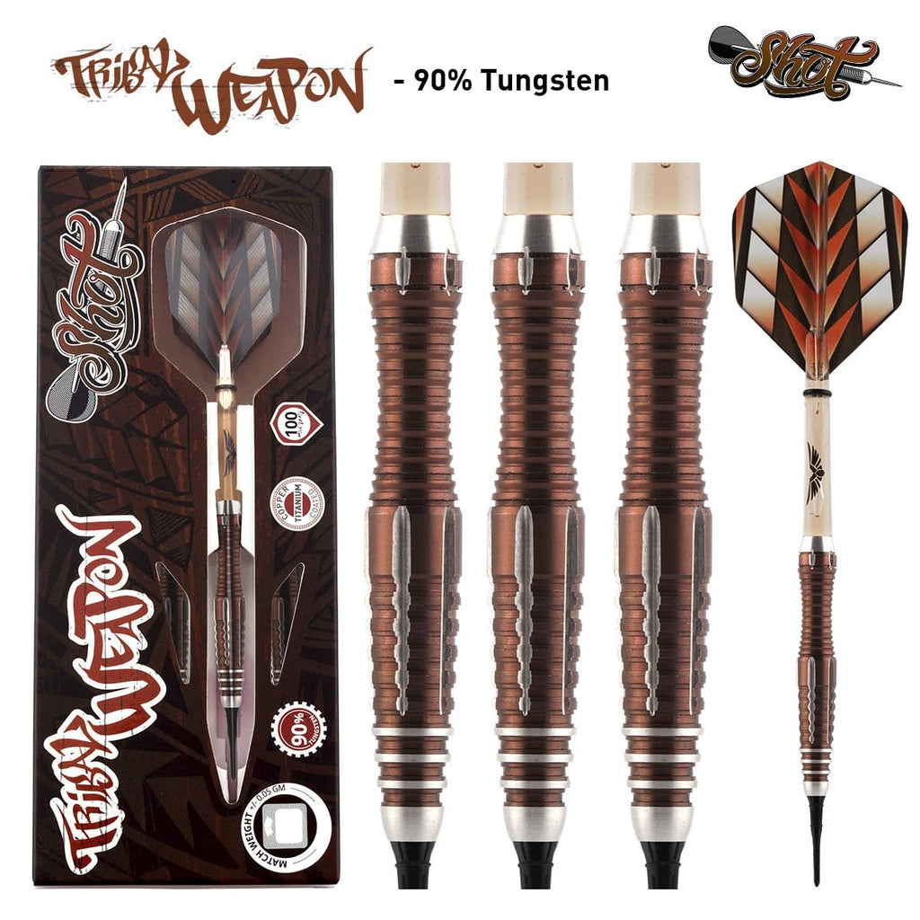 Tribal Weapon 1 Series Soft Tip Dart Set-90% Tungsten Barrels - shot-darts