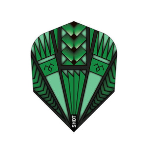 Armour Green Dart Flight Set-Small Standard - shot-darts