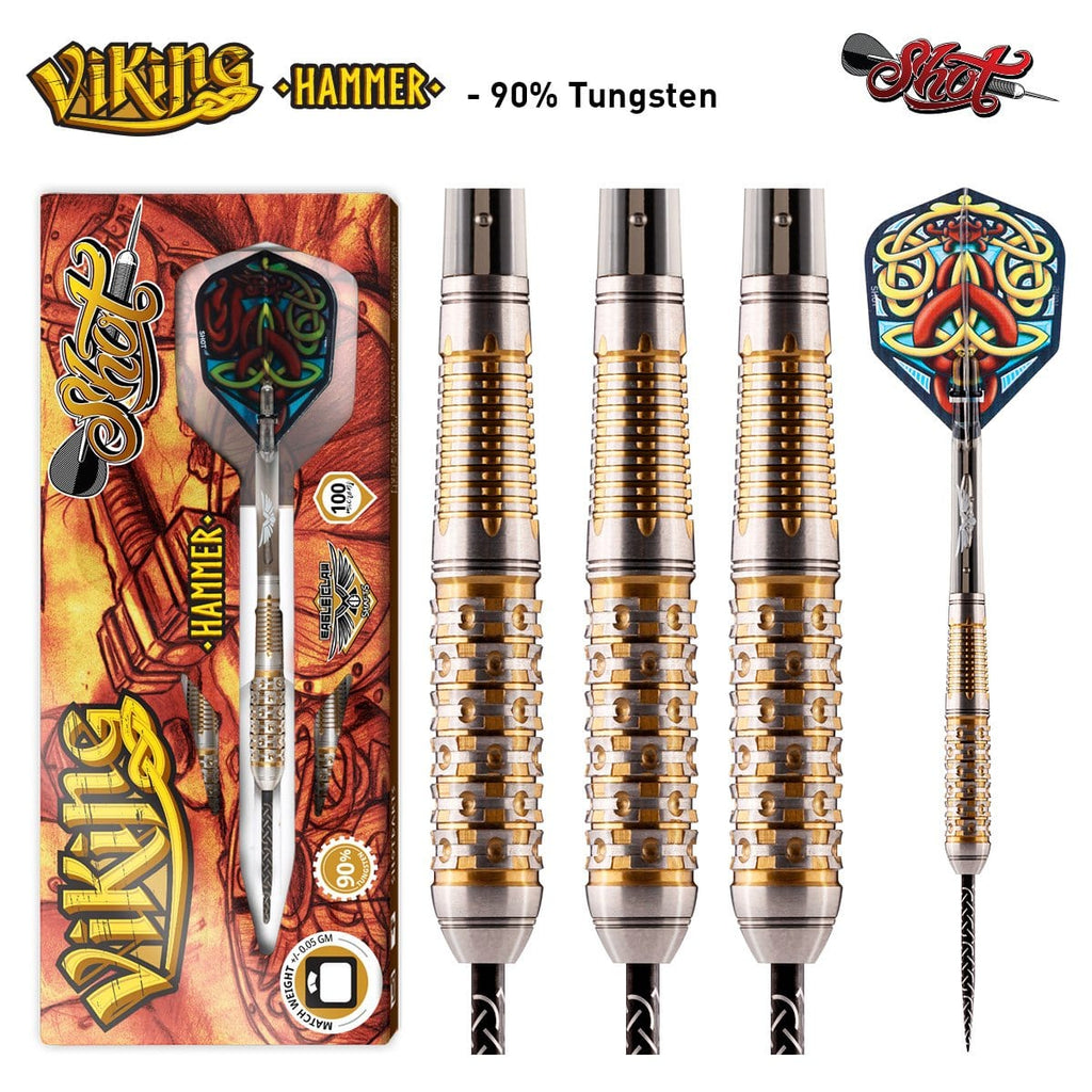 Viking Hammer Steel Tip Dart Set-90% Tungsten - shot-darts