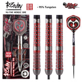 Ronin Yu 1 Series Steel Tip Dart Set-95% Tungsten Barrels - shot-darts