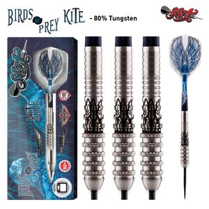 Birds of Prey Kite Steel Tip Dart Set-80% Tungsten Barrels - shot-darts