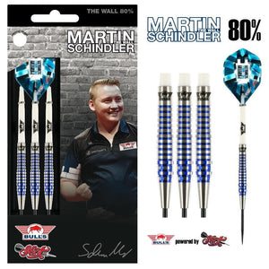 Martin Schindler Steel Tip Dart Set-80% Tungsten Barrels - shot-darts