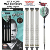 Max Hopp 2.0 Soft Tip Dart Set-90% Tungsten Barrels - shot-darts
