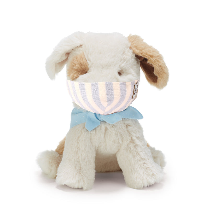 102138: Toy Face Mask - Blue Wide Stripes