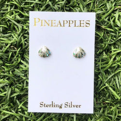 Sterling Silver Shell Studs with Paua