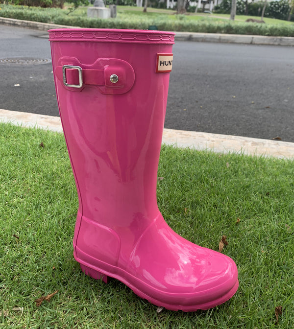 Kids Hunter Boots-Lipstick