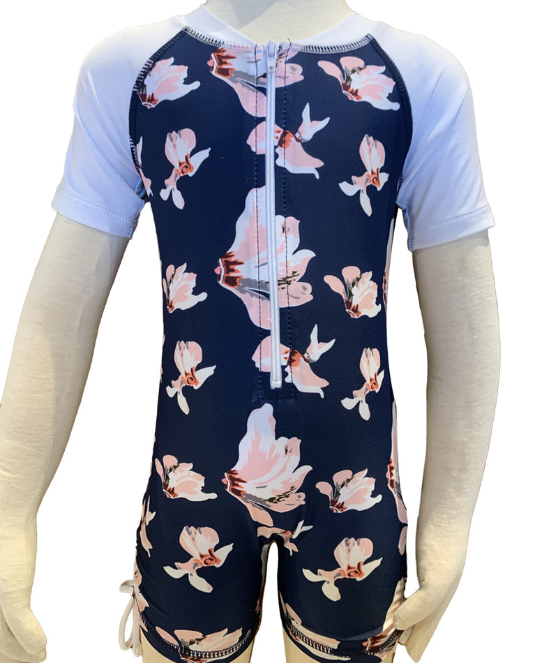 Snapper Navy Orchid Sunsuit