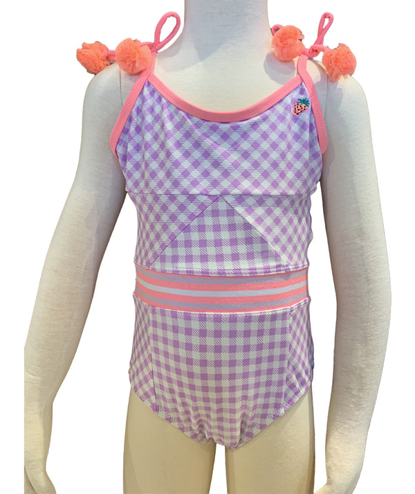 Shade 1PC Purple Gingham w/ Strawberry Infant