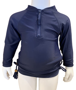 Snapper Navy 1/2 zip Rashguard