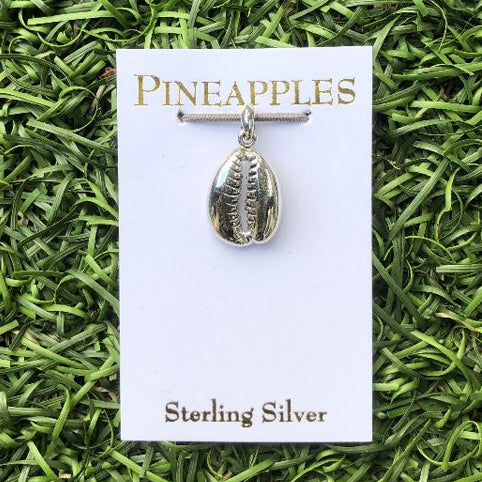 Sterling Silver Cowrie Shell Pendant