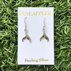 Sterling Silver Whales Tail Earrings