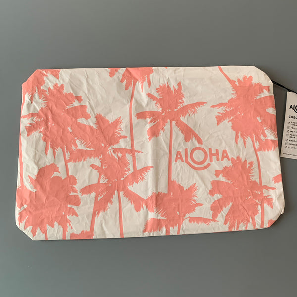 Aloha Collection: Coco Palms Guava/White Mid Pouch
