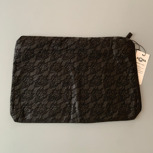 Aloha Collection: Black Lace Mid Pouch
