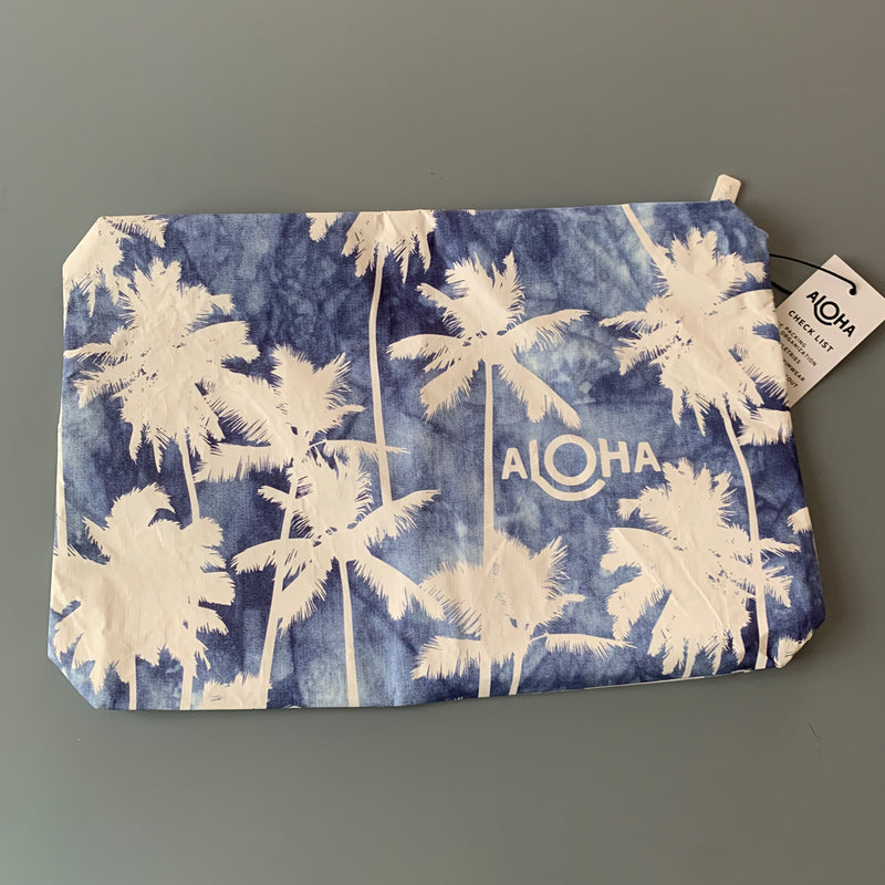 Aloha Collection: Coco Palms Indigo Mid Pouch