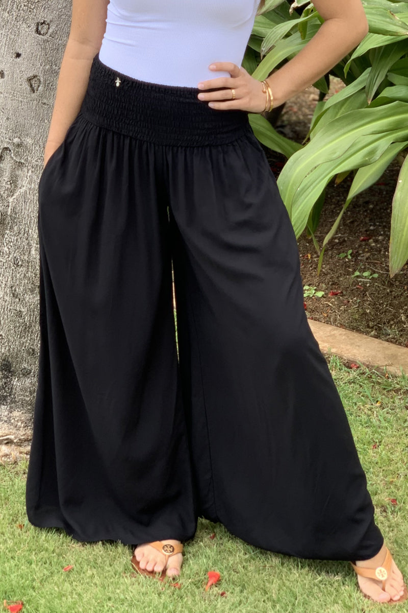 Pineapples Gaucho Pants Style 2402 Black