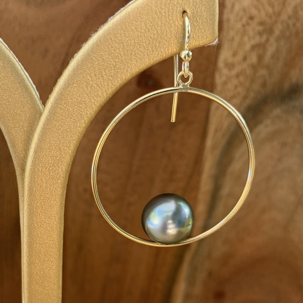 Gold Filled Round Dangle Earrings