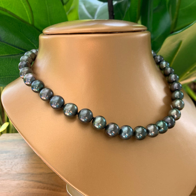 Tahitian Pearl Necklace Gold Filled Clasp