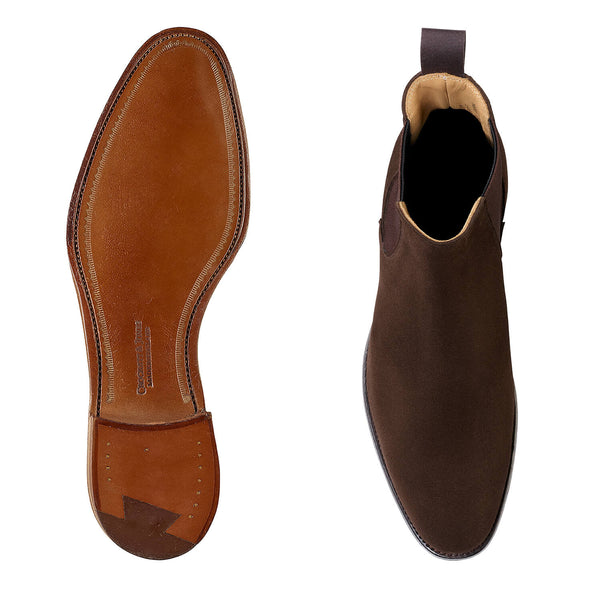 Bonnie dark brown calf suede, Crockett & Jones