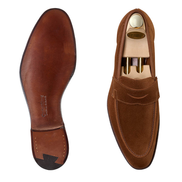 Cadogan Tobacco Calf Suede, Crockett & Jones