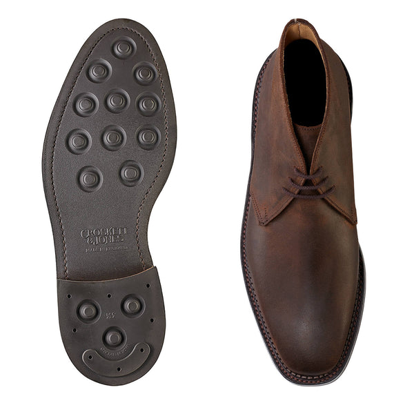 Molton Dark Brown Rough-out Suede, Crockett & Jones